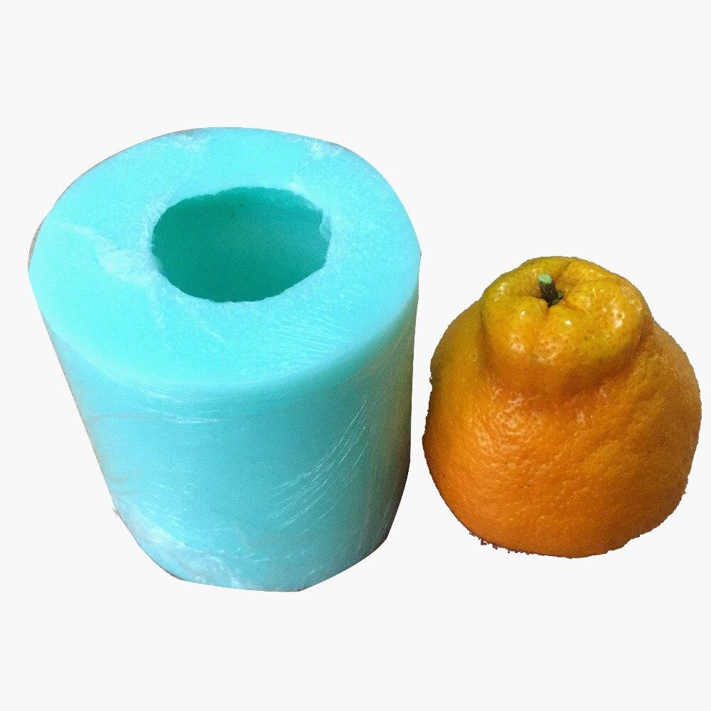 Hässliche orange frucht 3D silikonform mousse kuchen dekoration ...