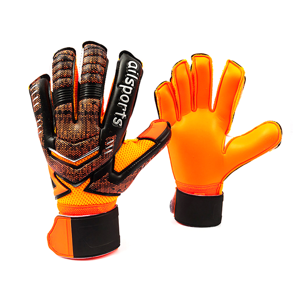 Football Goalkeeper Gloves Professional Goalkeepers Gloves Finger Protection Thickened Latex Soccer Goalie Gloves top quality accutouch latex exam gloves p f polylined x small 10 boxes of 100 case