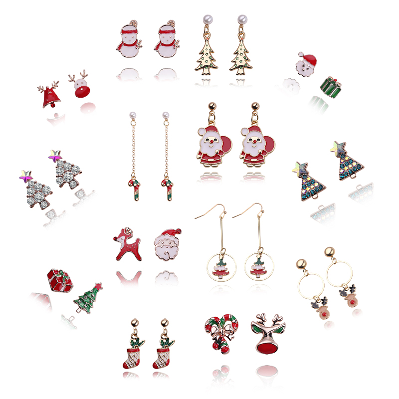 Christmas Jewelry.Us 1 93 30 Off Christmas Jewelry Accessories Earrings Cute Santa Claus Snowman Lovely Tree Bell Romantic Christmas Gifts For Women Girls Kids In