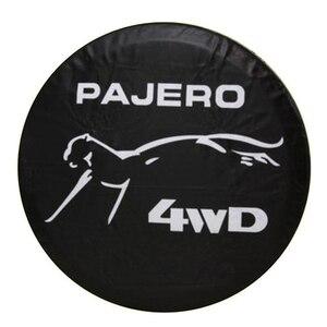 """Image 1 - 14 """"15"""" 16 """"17"""" inç ağır PVC deri yedek lastik JANT KAPAĞI kılıf kılıfı koruyucu çanta için Mitsubishi Pajero"""