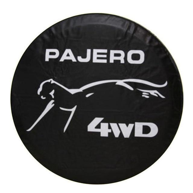 """14 """"15"""" 16 """"17"""" inç ağır PVC deri yedek lastik JANT KAPAĞI kılıf kılıfı koruyucu çanta için Mitsubishi Pajero"""