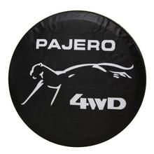 Чехол для колеса из тяжелой ПВХ кожи, 14, 15, 16, 17 дюймов, защитный чехол для Mitsubishi Pajero
