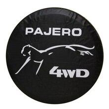 Funda protectora para rueda de repuesto de cuero PVC resistente, 14, 15, 16 y 17 pulgadas, para Mitsubishi Pajero