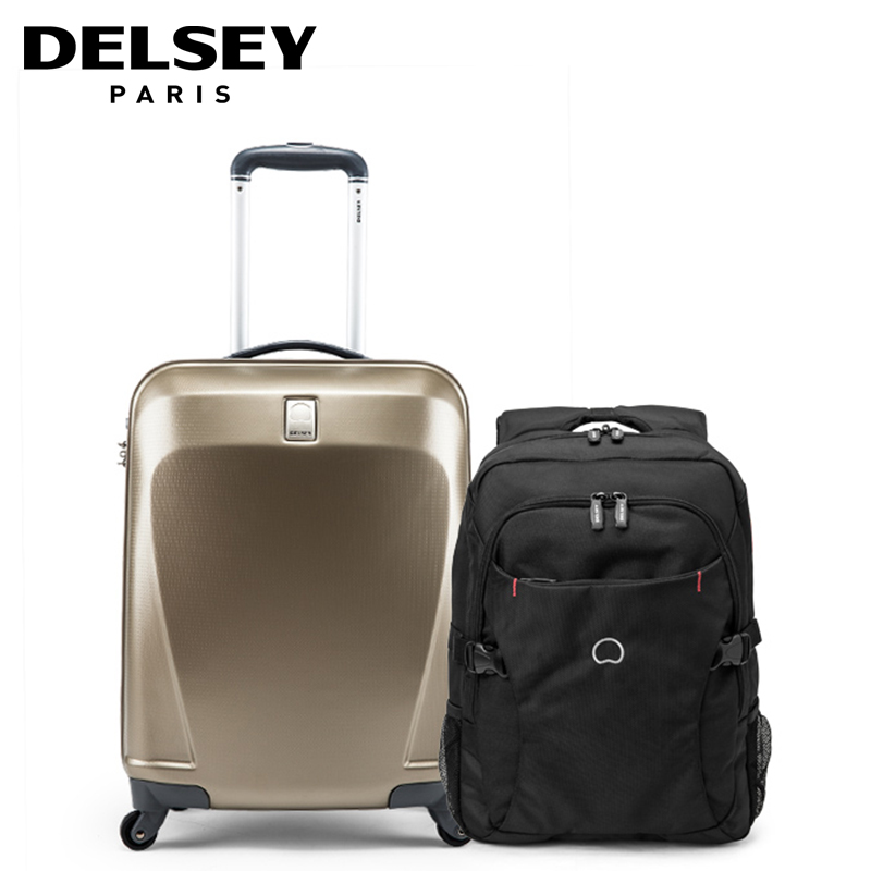 Delsey trolley luggage 20 backpack travel luggage set-in Hardside ...