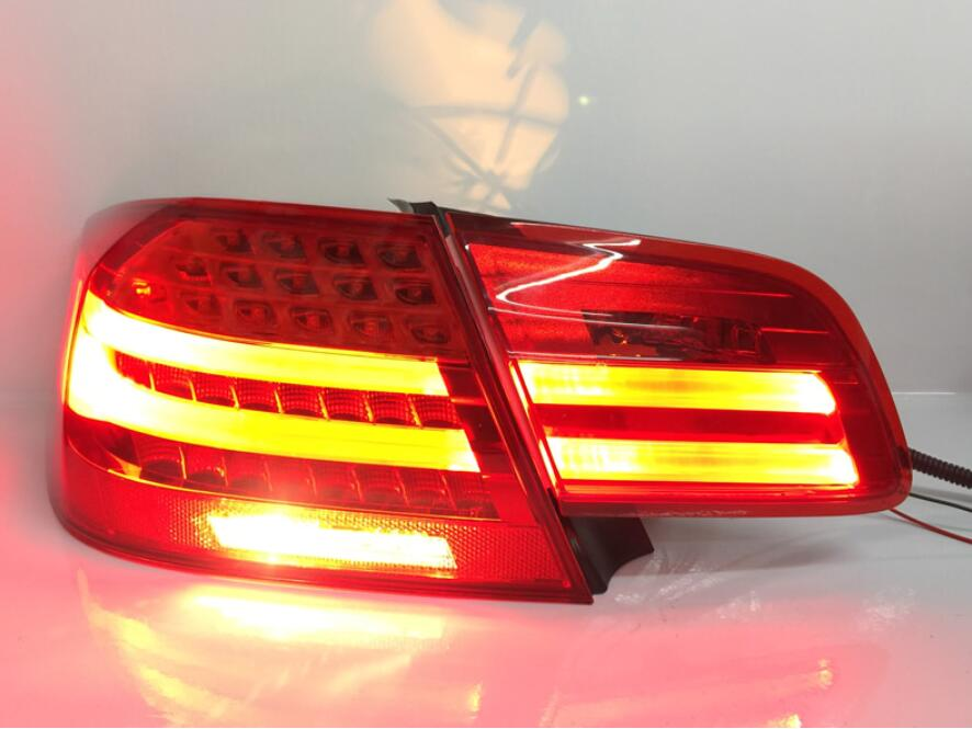 Video,4PCS Car Styling For E92 Taillights 2007~2011 For E92 LED Tail Lamp+Turn Signal+Brake+Reverse LED Light