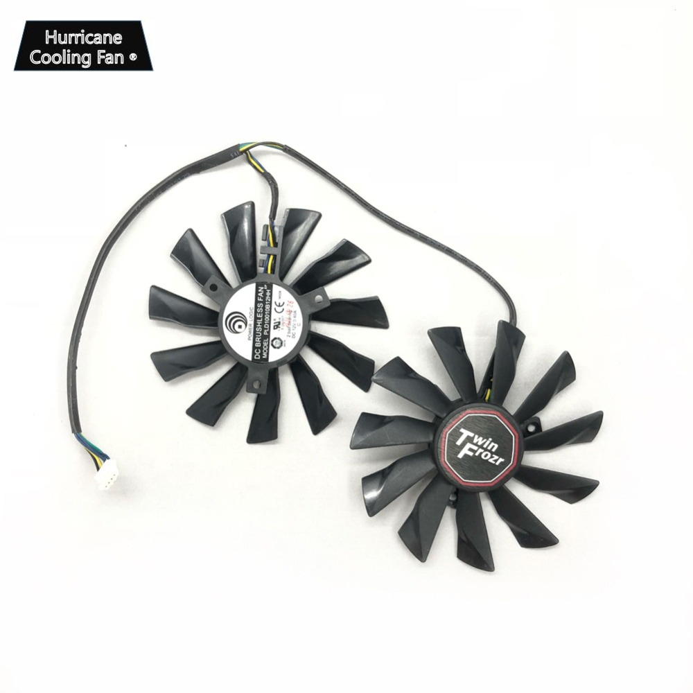 Image 4 - New PLD10010S12HH 95mm 4Pin Graphics Card Cooling Fan for MSI GTX 780Ti/780/760/750Ti R9 290X/290/280X/280/270X GAMING Cooler-in Fans & Cooling from Computer & Office