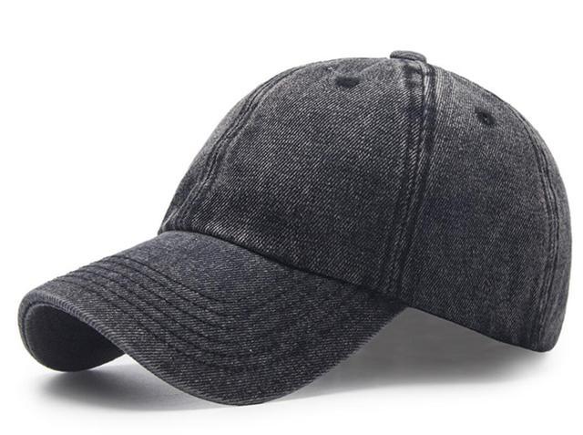 30pcs Vintage Black Washed Cotton Baseball Cap for Spring Autumn Men Blue  Jean Base Ball Hats Strap Back Wholesale Caps 4e51f14a3e12