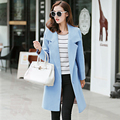 Europe and the United States 2016 winter women's new slim slim size in long woolen coat  v373
