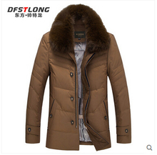 2015 New Hot Winter Thicken Warm Men Down jacket Coat Parkas Outerwear  Leisure Hooded Fox Fur collar Mid Long Plus Size 5XXXXXL
