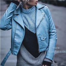 1a603fb6f2ee78 2018 neue Mode Frauen Autunm Winter Wein Rot Faux Leder Jacken Dame Bomber  Motorrad Kühle Oberbekleidung Mantel mit Gürtel Hot v.