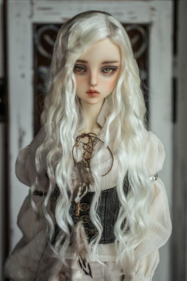 Perucas boneca BJD mohair Imitação cabelo onda disponível para 1/6 1/4 1/3 DD SD acessórios da boneca BJD perucas de cabelo macios