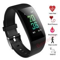 Top brand fashion B33 Fitness Smart Bracelets Sports Blood Oxygen/ Pressure Monitor Heart Watch Health Tracker for Women