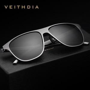 Image 3 - Veithdia marca designer unissex aço inoxidável tr90 men óculos de sol polarizados uv400 lente óculos de sol para mulher gafas de sol 3920