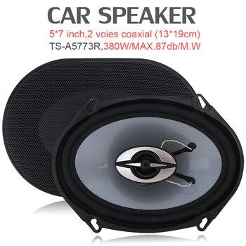 5*7 inç 380 W Araba HiFi Koaksiyel Hoparlör Araç Kapı Otomatik Ses Müzik Stereo Tam Aralıklı Frekanslı Hoparlörler arabalar için Vhiecle Otomatik