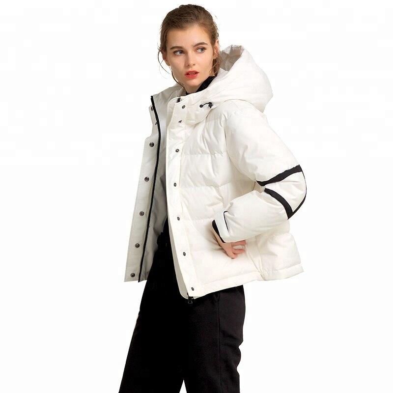 Femmes Odm Vers Le Rembourré Vêtements Nouvelle Veste Blanc Coton Bas D'hiver Mode De Chaud Manteau rxU0xAn8