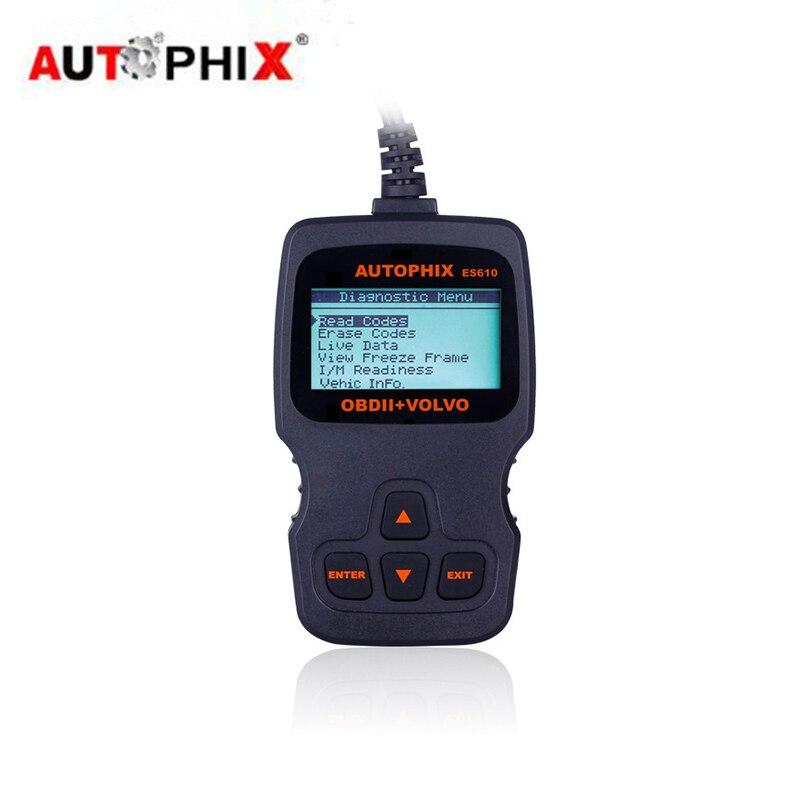 New Autophix ES610 Obd2 Diagnostics Scanner For Volvo C30 C70 S40 V40 V50 V70 S60 XC70 XC90 Engine Tool Scan Srl Reset Scan Tool