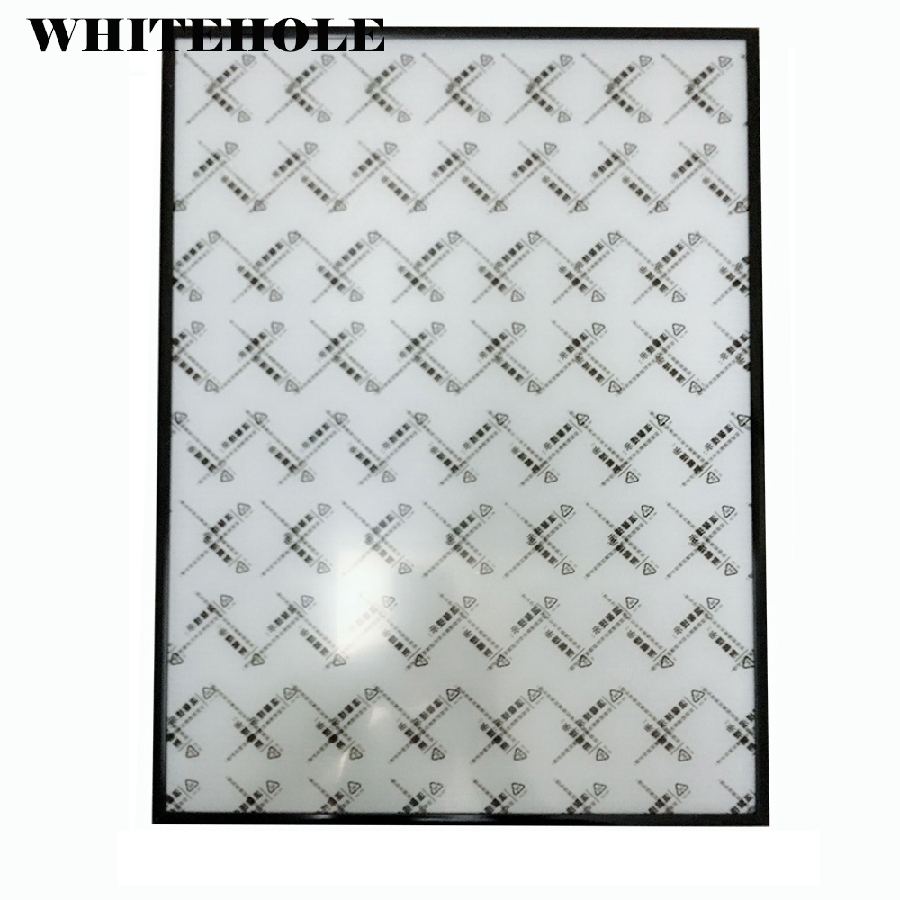 Imagem Quadro Unassembled 40x60 40x50 50x60 centímetros Moldura de Metal Preta Minimalista Prata Cartaz quadros Sem Nenhum Suporte de Vidro