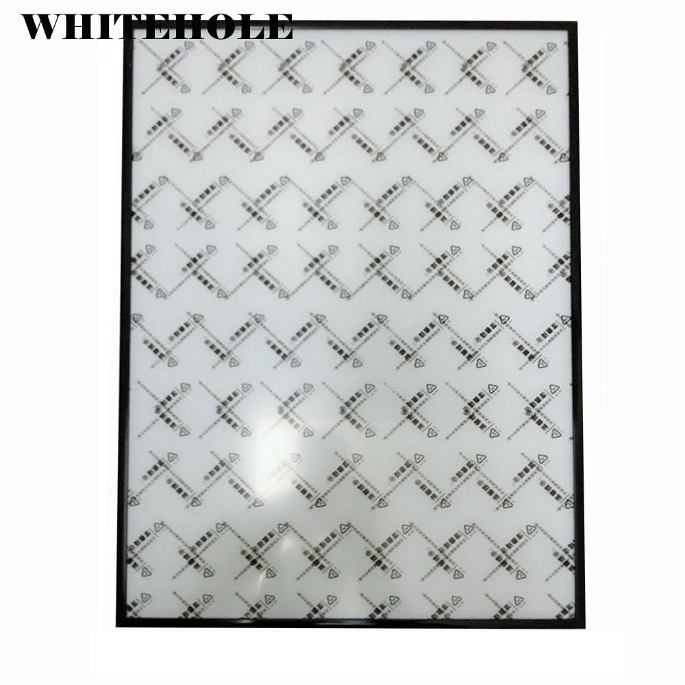 Фоторамка в сборе 40x60 40x50 50x60 см, металлическая фоторамка в минималистском стиле, черный, серебристый, без стекла