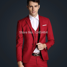 jacket+vest+pant free transport 2015 new arrival style enterprise informal fits slim match males go well with wedding ceremony fits for males purple blue