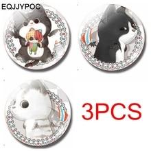 3PCS/Lot Cartoon Cat 30MM Fridge Magnet For kids Handmade Glass Refrigerator Magnets Sticker Cute Animals Home Decor