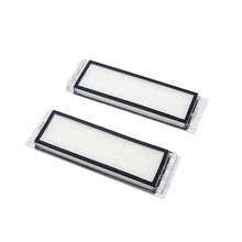 цена на 2pcs Washable Hepa Filter For Xiaomi mi 1nd 2nd Roborock sweeping robot home Vacuum Cleaner Parts Replacement Filters