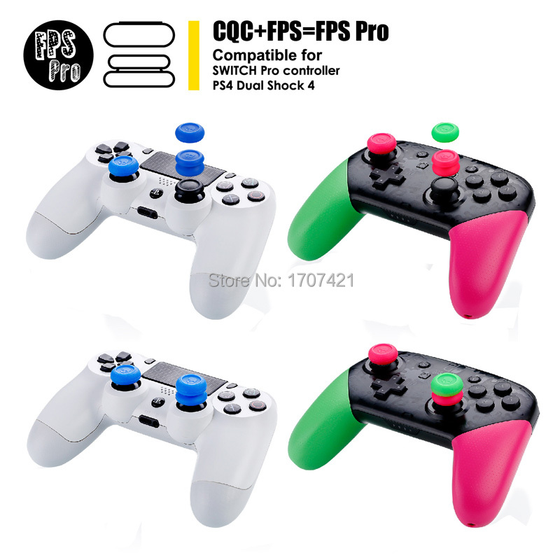 10 Sets Skull Co CQC and FPS Thumb Grips Cover Set Joystick Cap for Nintend Switch