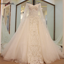 LS45880 queen wedding dress with long cape lace sweetheart ball gown corset back wedding gowns 2017 robe de mariage real photos