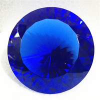 Dark Blue 10cm 1pcs Crystal Diamond Paperweight Glass Fengshui Crafts Ornaments Home Decoration Wedding Gift Party Souvenir