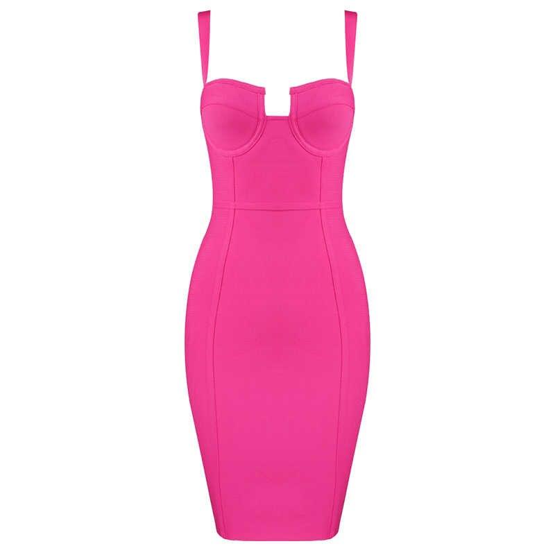 Бесплатная доставка плюс размер XL XXL женское летнее сексуальное голубое ярко-розовое Бандажное платье 2019 дизайнерское модное вечернее платье Vestido