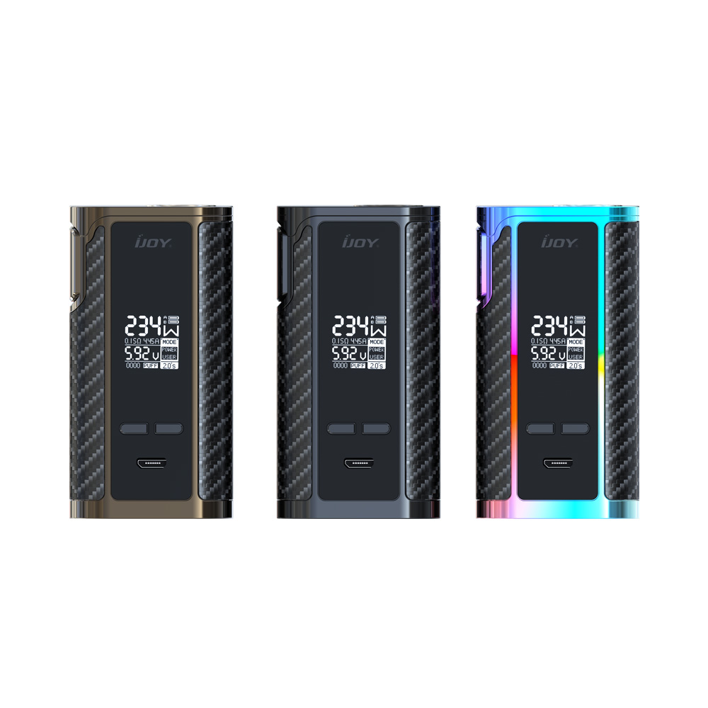 IJOY Captain PD270 234W TC Box Mod With Dual 20700 Battery NI/TI/SS Mode Electronic Cigarette Vaporizer VS Smok Alien 220W Mod original ijoy captain pd270 box mod e cigarette vape 234w ni ti ss tc vapor power by dual 20700 battery new colors