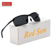 Red Son Men Photochromic Polarized Driving Sunglasses  Eyewear Windproof UV400