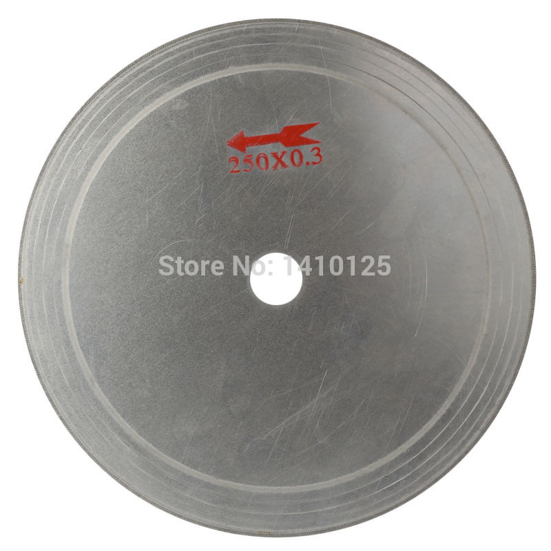 10 colių ypač plonas ratlankis, 0,55 mm deimantinis šlifavimo pjūklo pjovimo diskas, pavėsinės skylė, 25 mm, taupymas papuošalų brangakmenio medžiagoje