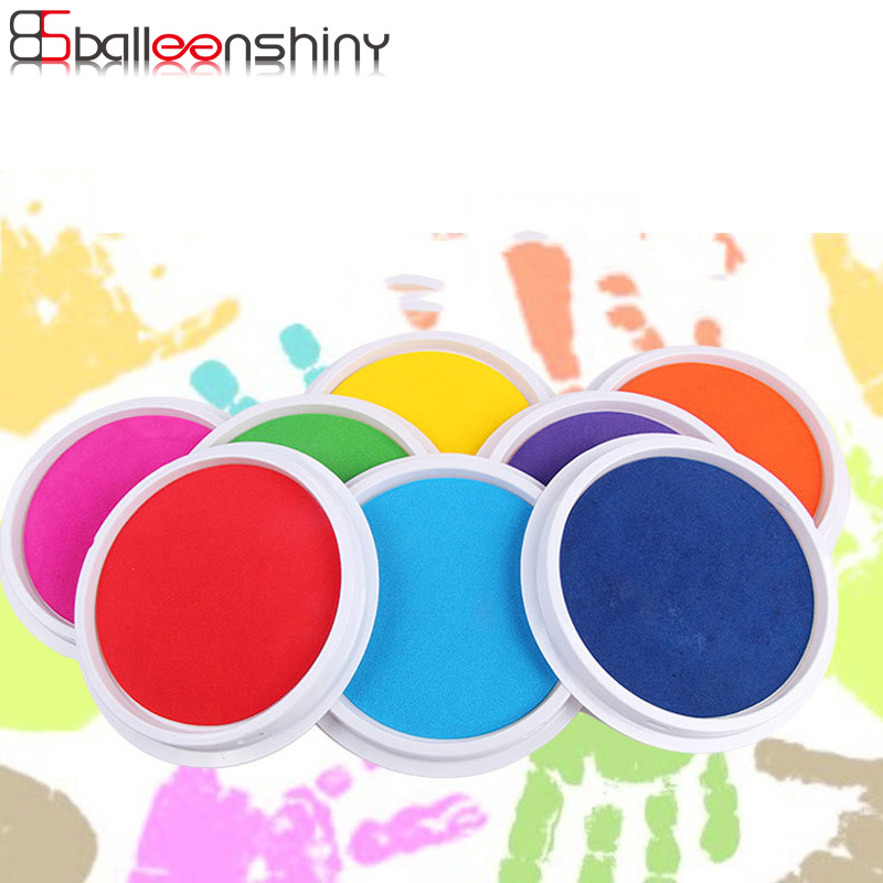 BalleenShiny DIY Finger Painting Drawing Toys Baby Funny Graffiti Colored Drawing Craft Inkpad Stamps Drawing Toy for Children arthur 15 inkpad diy s0051