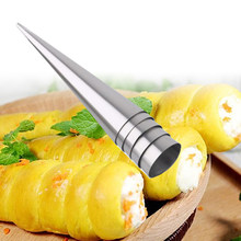 Lovely Horn Bread Baking Mold Stainless Steel Pastry Mold Cones Mold Baking Tools(China)