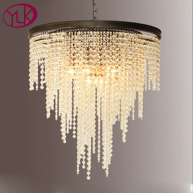 Youlaike Modern Chandelier Lighting For Dining Room Flush Mount Hanging Crystal Lights Black Kitchen Hang Light Cristal Lustre lustre flush mount led modern crystal ceiling lamp lights with 1 light for living room lighting free shipping