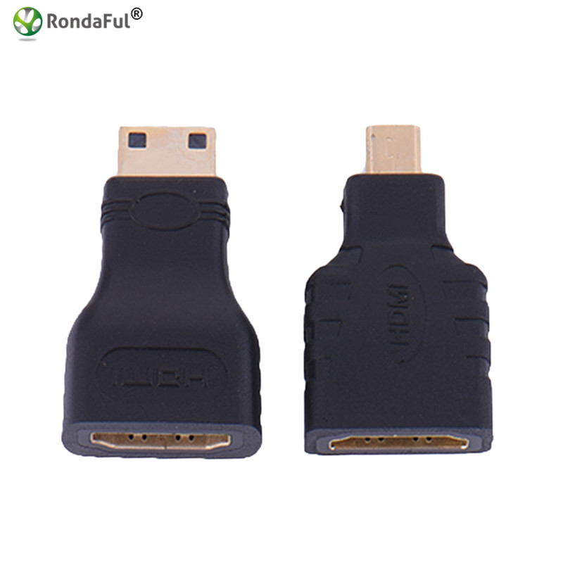 1set HDMI to Micro HDMI + HDMI to Mini Converter Gold Plated HD Extension Adapter Connector for Video TV for Xbox 360 HDTV 1080P mini hdmi male to hdmi female extension vga cable for hd tv digital camera video black 22cm