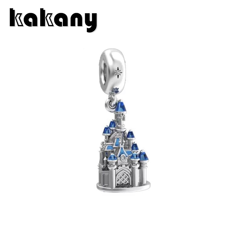 KAKANY 925 Sterling Silver Classic Fairytale Castle Charm Necklace Pendant for Original popular Style Charm BraceletsKAKANY 925 Sterling Silver Classic Fairytale Castle Charm Necklace Pendant for Original popular Style Charm Bracelets