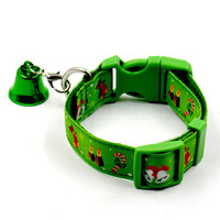 Cute & Funny New Christmas Pet Collar With Small Bell Set Pets Dogs Cats Adjustable Leashes Collar OB