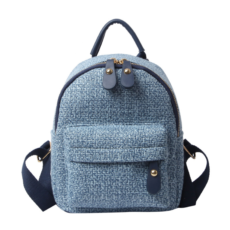 Women Mini Backpacks 2019 Female Canvas Fashion Bookbags Ladies Two Size Casual High Quality Solid Travel School Shoulder Bags