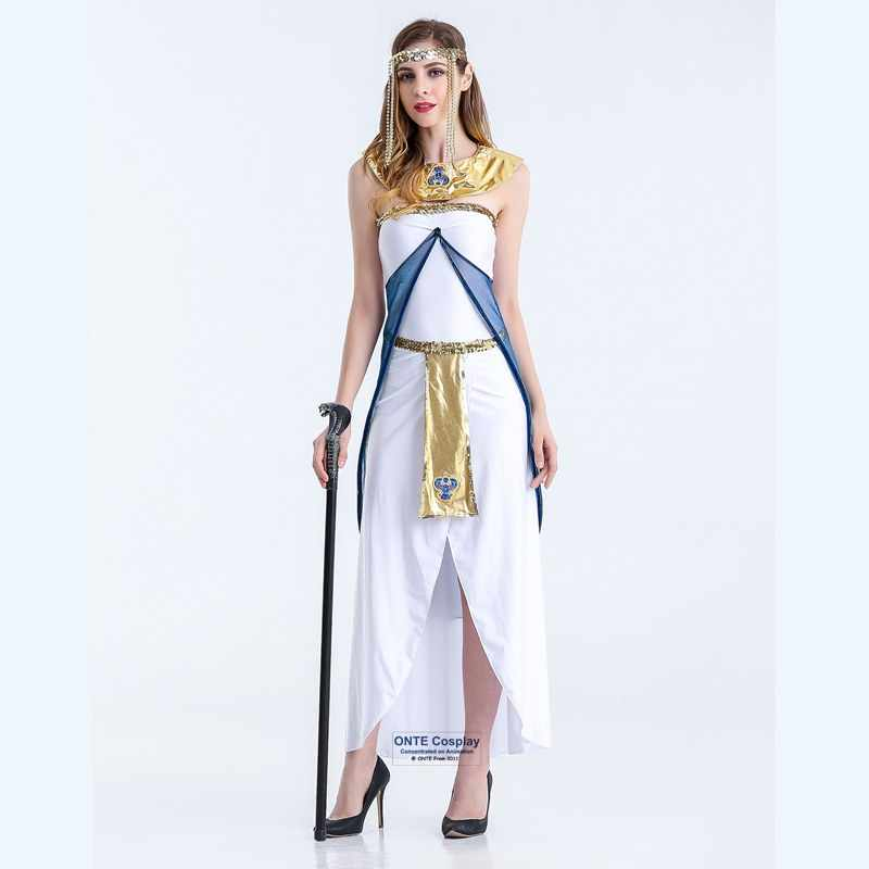68bb122ffa7 Sexy Egyptian Cleopatra Costumes Ladies Cleopatra Roman Toga Robe Greece  Goddess Fancy Dress Outfits