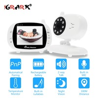 3.5 Wireless 2.4GHz Baby Monitor WiFi With Two Way Intercome 8IR LED 3 Lullabies IP Camera Security Surveillance Camera