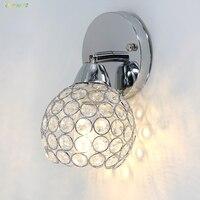 Oreab جديد 4 واط نوم الحديثة كريستال الجدار أضواء المعاصرة E12 كريستال تأثير وحدة إضاءة LED جداريّة الشمعدان الإضاءة تركيبات مصباح داخلي
