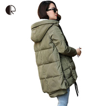 CR New Winter Jacket Women Down Casual Winter Coats Plus Size M-XXXL Hooded Parka Coat Long Style Womens Jackets