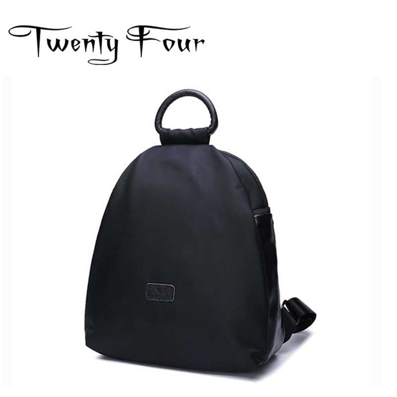 Twenty-four Luxury Female Oxford Backpack Famous Brand New With Hard Handel Travel Backpack Fashion Simplicity Bags Mochilas