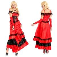 Wholesale spanish dance dress stage big pendulum skirt opening dance skirt red costumes flamenco dancer M XXXL