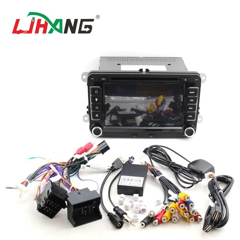 LJHANG lecteur multimédia de voiture 7 pouces 2 Din pour VW POLO/GOLF/PASSAT b6/golf 5/Skoda Octavia/SEAT LEON autoradio USB Headunit RDS - 6