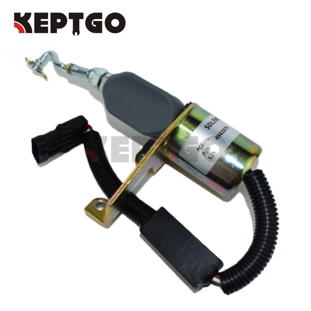 Diesel Fuel Shut off Valve Solenoid For Cummins 6CT 24V 5346207 5301701 5295567 5292297 4942879