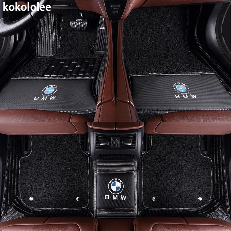 Kokololee Personnalisé tapis de sol voiture pour bmw f10 x5 e70 e53 x4 f11 x3 e83 x1 f48 e90 x6 e71 f34 e70 e30 z4 x2 étanche accessoires - 5