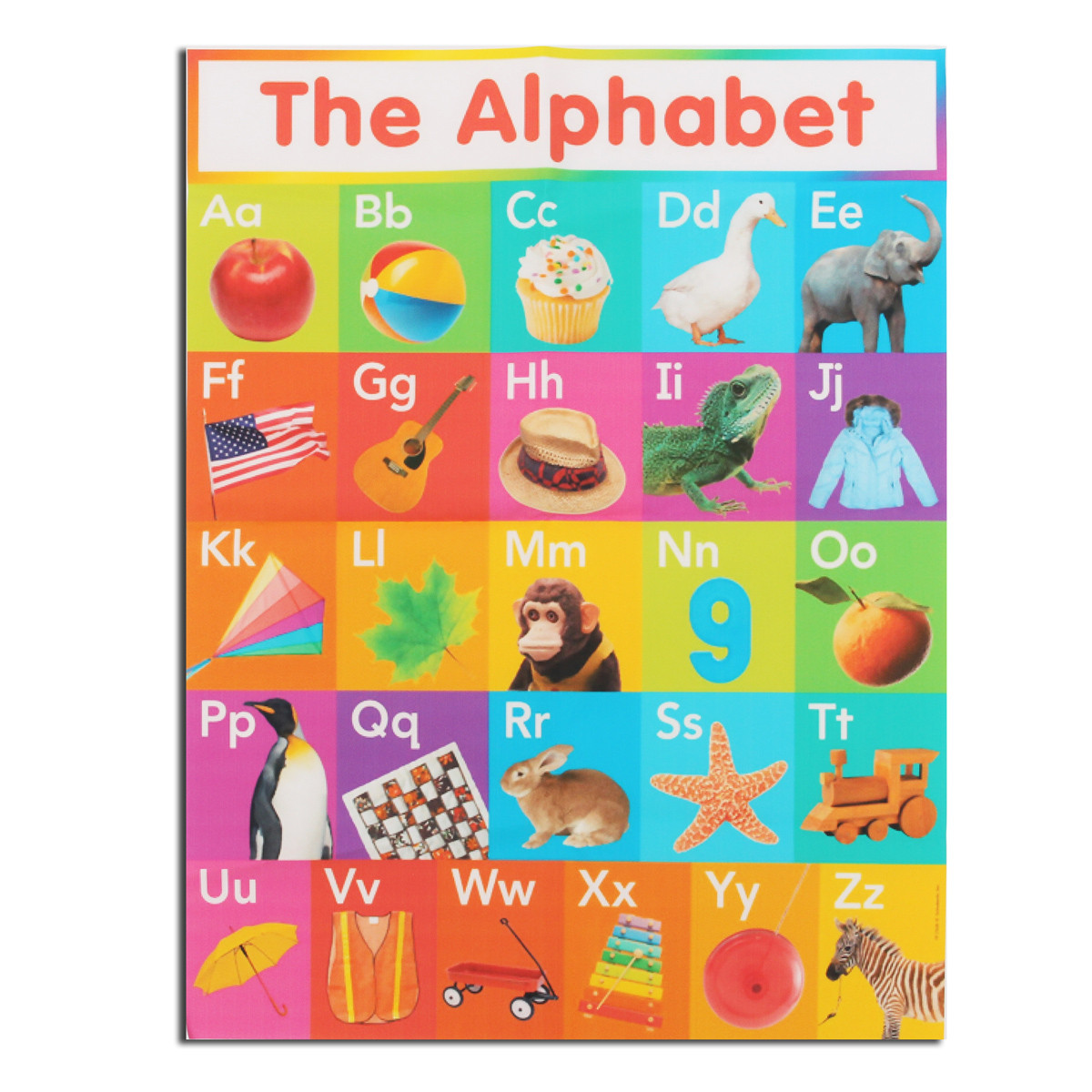 Light Canvas Painting Animal Poster Art-Alphabet Silk Early-Learning Home-Decor English-Language