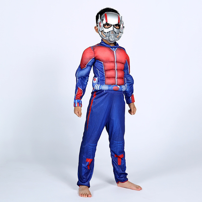 Avengerss Endgame Ant Man Cosplay Costume Boys Muscle Ant Man Comic Cosplay Kids Halloween Costumes For Kids Party Dress S M L